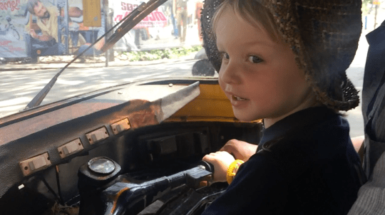 Driving a Rickshaw in Kerala - Kerala with Kids