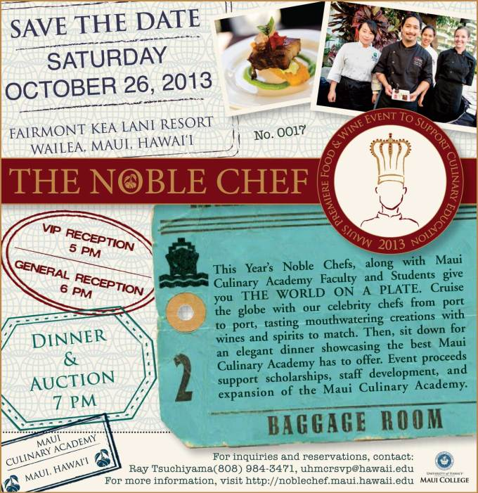 2013 Noble Chef Event Benefiting the Maui Culinary Academy