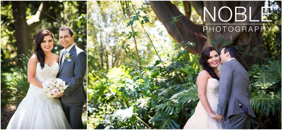 Botanical Gardens wedding portraits
