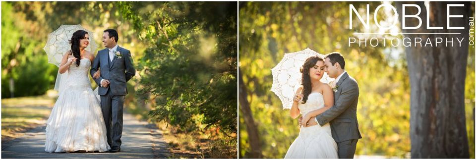 Romantic golden light wedding photos