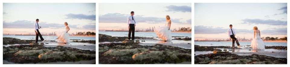 Wedding beach in the the water