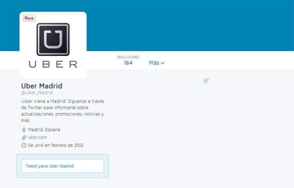UberMadrid Twitter