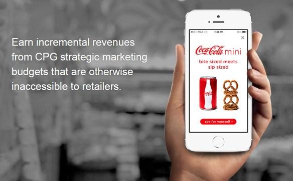 ads via smartphones in supermarkets