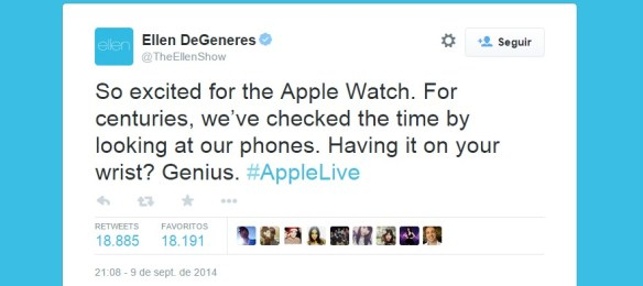 apple watch tweet