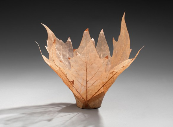 Skeletal leaf bowl sculptures, by Kay Sekimachi - via Colossal