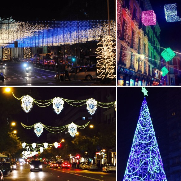 Christmas lights Madrid 2015