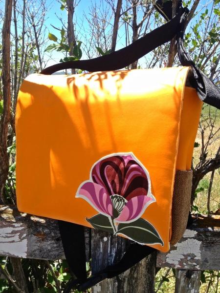 orange vinyl messenger