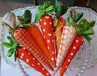 sewn carrot tutorial, easy easter sewing crafts