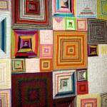 shirt stripe box quilt detail