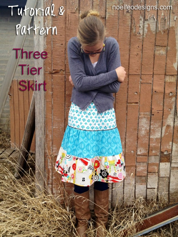 make a tiered skirt how to, skirt tutorial elastic waistband