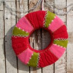 felted wool wreath
