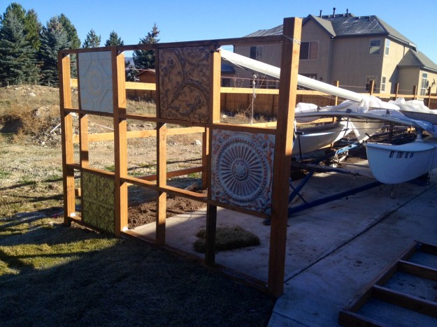 corrugated and tin fence DIY