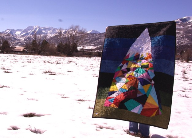 mountain quilt with timp