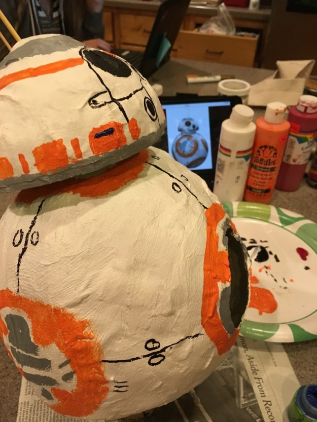 painting BB8