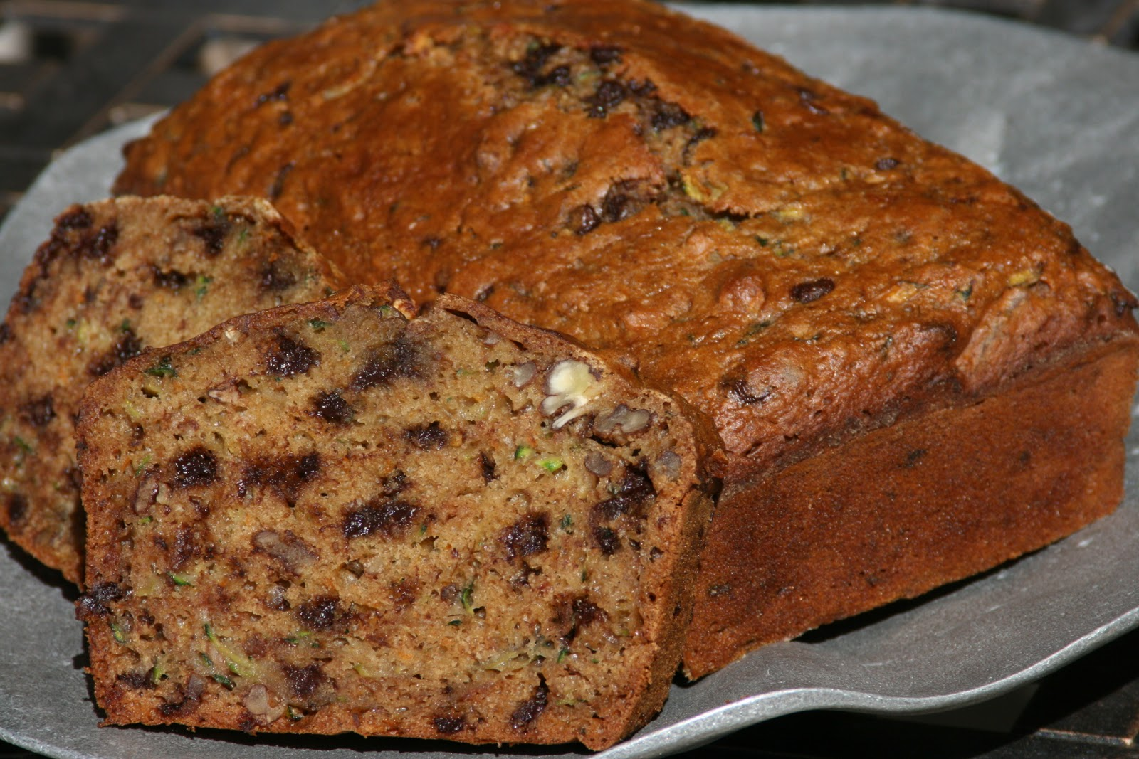Zucchini Bread with Chocolate Chips - noelle o designs | noelle o ...