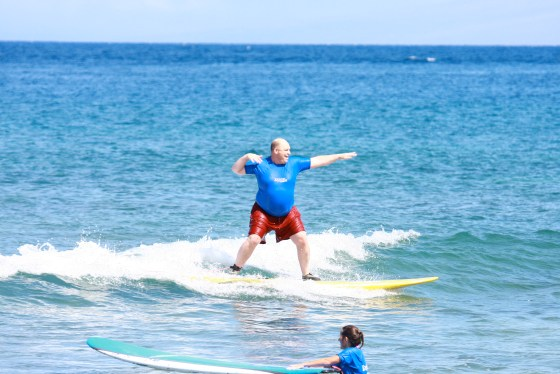 Surfing Maui 2010
