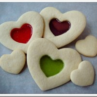 Stained Glass Valentine Cookies
