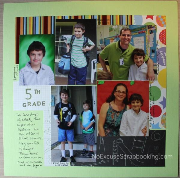 5th grade title page