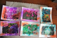 watercolor paper image transfers || noexcusescrapbooking.com