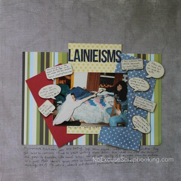 Lainie-isms || noexcusescrapbooking.com