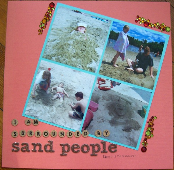 sand people || noexcusescrapbooking.com