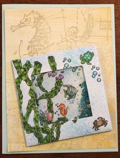 sea shaker card || noexcusescrapbooking.com