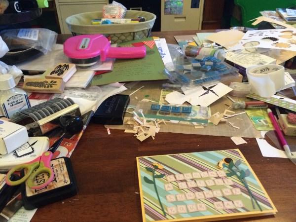 my desk    noexcusescrapbooking.com