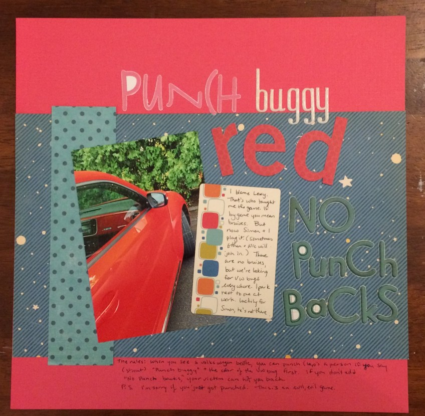 punch buggy red||noexcusescrapbooking.com