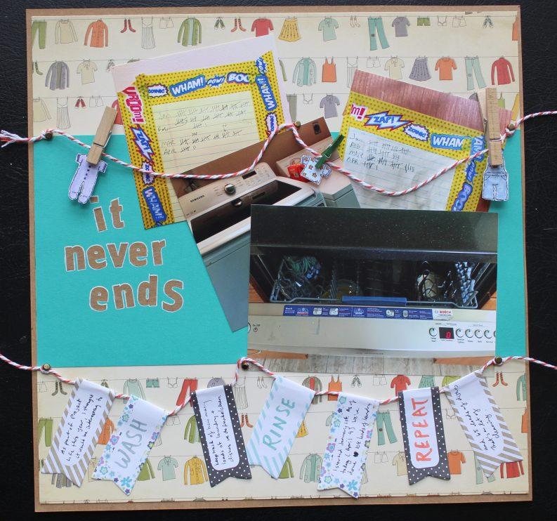 it never ends || noexcusescrapbooking.com
