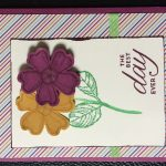 pansy card ||noexcusescrapbooking.com