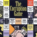 Part of the Corruption board game, which appeared in The Cane Toad Times. Source: Supplied