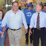Scott Driscoll with Campbell Newman during the election campaign in 2012. Source: The Courier-Mail