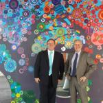 David Feeney with Reservoir West Primary School principal Bruce Kearney