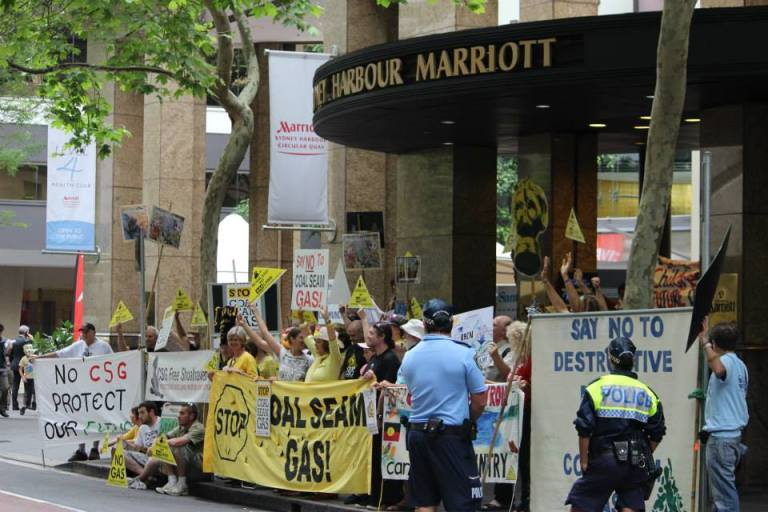 Protestors outside last week's East Coast Gas Conference