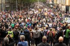 Organisers say police estimate 50,000 people marched in Melbourne