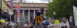 Training it to Melbourne's #MarchinMarch, by @jenoutwest