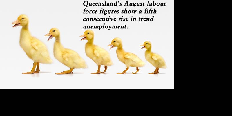 August labour force monthly update: Fifth consecutive rise in trend unemployment, @Qldaah #qldpol