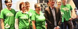 Greens elated with Melbourne win: Labor wins Government. @Takvera on #vicvotes from #GreeningBrunswick