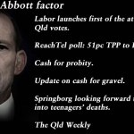 The Newman Abbott factor – The Qld Weekly #qldpol: @Qldaah