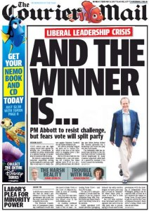 09/02/15 The Courier Mail - Labor's Plea For Minority Power (2nd Edition)