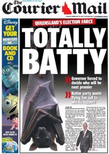 10/02/15 The Courier Mail - Queensland election farce - Totally Batty