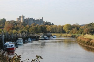 River Arun and Arundel Castle in West Sussex