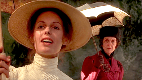 WHAT DO YOU KNOW? Helen Morse as Mlle de Poitiers and Vivien Grey as Miss McGraw.
