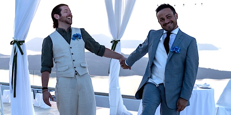 David and Marco Bulmer-Rizzi on their wedding day.