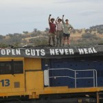 Coal train halted at Willow Tree. Photo: Frontline action on Coal/Twitter