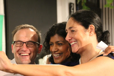 Selfie: Adam Bandt, Samantha Ratnam and Alex Bhathal