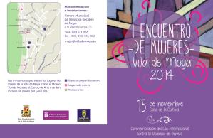 I ENCUENTRO MUJERES VILLA DE MOYA 2014