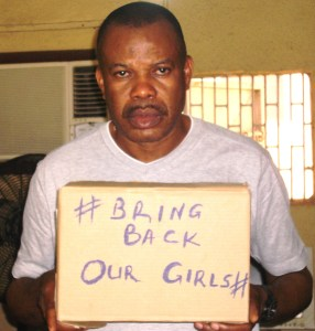 Kidnapped Chibok Girls: Nollywood Actor Steve Eboh keeps #Bringbackourgirls campaign going.