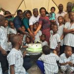 Photos: Nollywood actor Kenneth Okonkwo celebrates 48th birthday with his family and orphans
