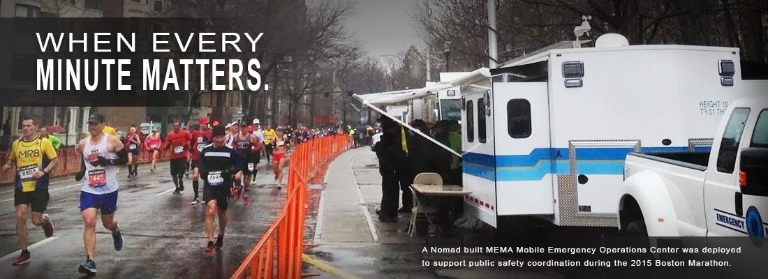 Mobile Command Center at Boston Marathon